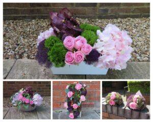 Collection of floral arrangements